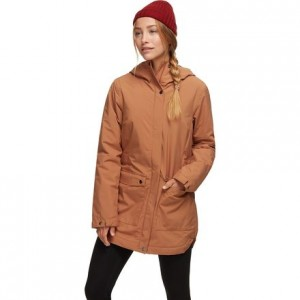Here And There Insulated Trench Jacket - Womens