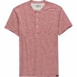 Short-Sleeve Heather Henley Shirt - Mens