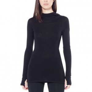 Luxe Rib Hooded Pullover - Womens