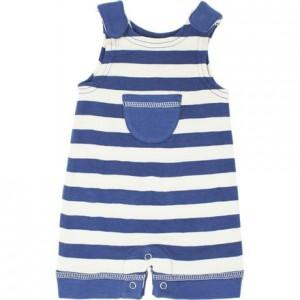 Striped Sleeveless Romper - Infant Boys