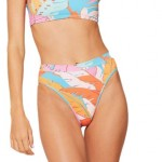 Fiesta Palm Ribbed Frenchi Bikini Bottom - Womens