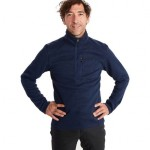 Stretch 1/2-Zip Fleece Jacket - Mens