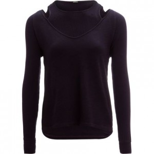Double Layer Long-Sleeve V-Neck - Womens