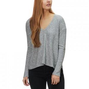 V-Neck Thermal Sweatshirt Top - Womens