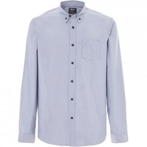 Long-Sleeve Solid Woven Shirt - Mens