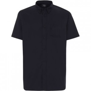 Short-Sleeve Solid Woven Shirt - Mens