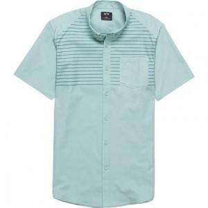 Top Stripe Woven Short-Sleeve Shirt - Mens