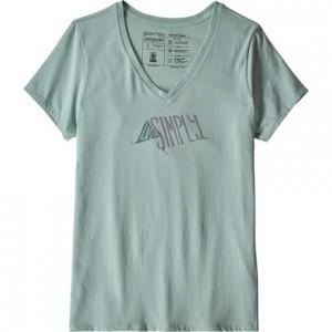 Live Simply Sleeping Out Organic V-Neck T-Shirt - Womens
