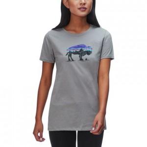 Fitz Roy Bison Organic Crew T-Shirt - Womens