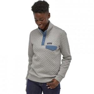Organic Cotton Quilt Snap-T Pullover Sweatshirt - Womens