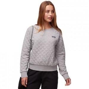 Organic Cotton Quilt Crew Sweatshirt - Womens