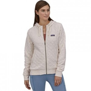 Organic Cotton Quilt Hooded Jacket - Womens