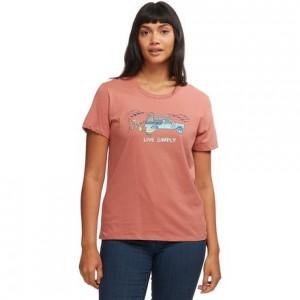 Live Simply Lounger Organic Crew T-Shirt - Womens