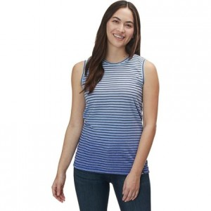 Striped Dip Dye Tank Top - Womens