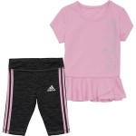 3 Stripe Capri Tight Set - Infant Girls