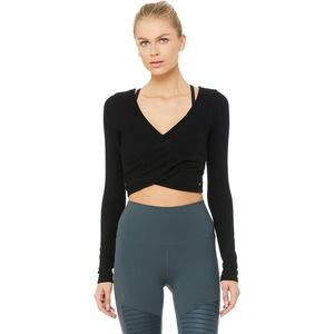 Amelia Luxe Long-Sleeve Crop Top - Womens