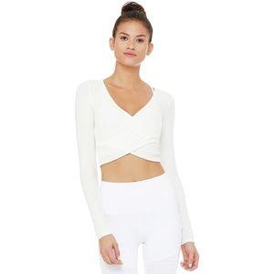 Amelia Luxe Long-Sleeve Crop Top - Womens