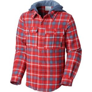 Boulder Ridge Flannel Hooded Shirt - Boys