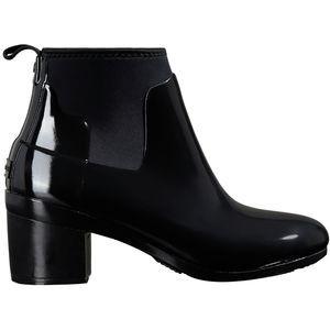 Refined Mid Heel Gloss Rain Boot - Womens