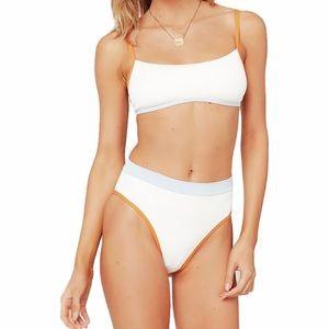 Frenchi Color Block Bikini Bottom - Womens
