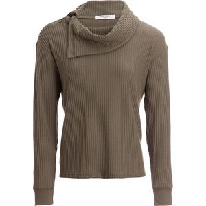 Bryon Cozy Thermal Cowl-Neck Top - Womens