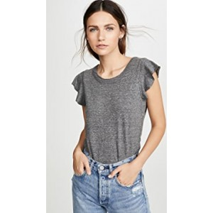 Flutter Sleeve Shirttail Tee