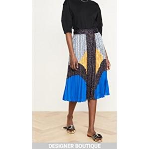 Mix Pleated Skirt