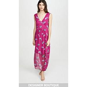 Sleeveless Stylized Floral V Neck Dress