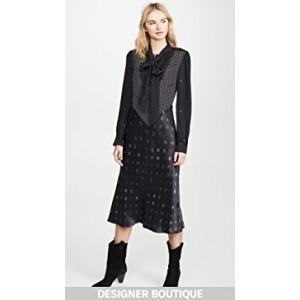 Mixed Dot Bow Dress