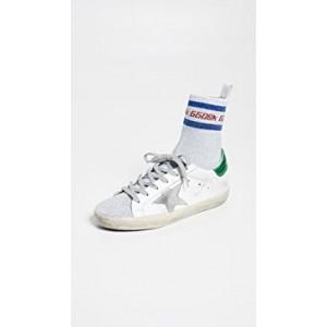 Supserstar Metallic Socks Sneakers