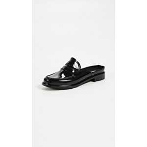 Backless Gloss Penny Loafers