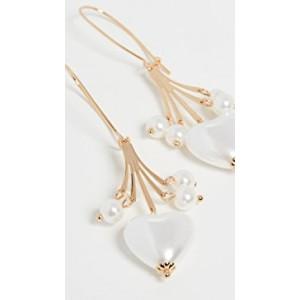 Imitation Pearl Heart Earrings