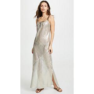 Drawstring Bias Slip Dress