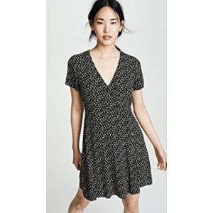 Button Wrap Retro Dress