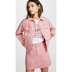 The Raglan Oversized Jean Jacket in Dusty Rose