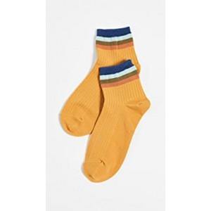Rainbow Rib Ankle Mid Socks