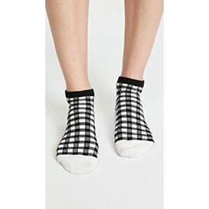 Gingham Play Anklet Socks