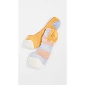 2 Pack Riddell Stripe No Show Socks
