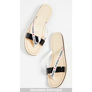 Flat Logo Sandals