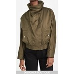 Twill Jacket with Exaggerated Collar