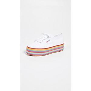 Multicolored Platform Sneakers