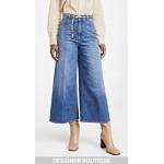 High Rise Wide Leg Ecodark Stone Blue Jeans