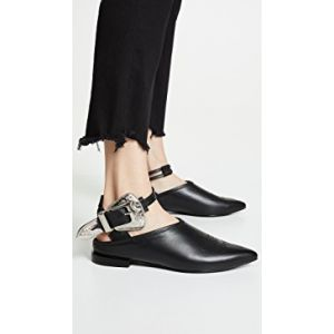 Buckle Ankle Strap Mules