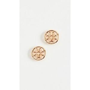 Logo Circle Stud Earrings