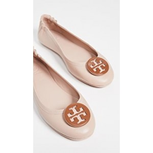 Minnie Travel Ballet Flats with Logo