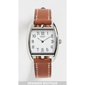 Hermes Brn/S Cape Cod Tonneau Bracelet