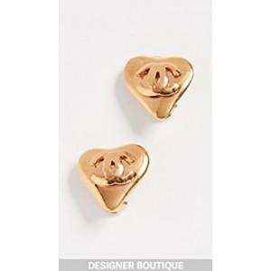 Chanel Clip On Heart Earrings