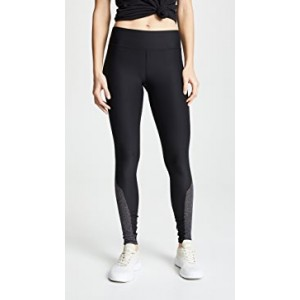 Metallic Side Insert Leggings