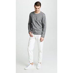 Tipped Marled Crew Sweater