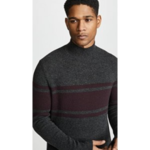 Felted Mock Neck Sweater